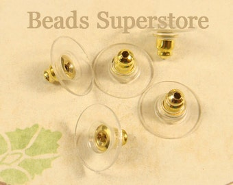 11 mm x 7 mm Gold-Plated Brass Ear Wire Guard - 20 pcs