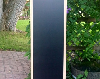 Extra Large Tall Magnetic Chalkboard Vintage Mustard with White Wax - Framed Magnetic Board - Chalk Board - Vintage Style Chalkboard