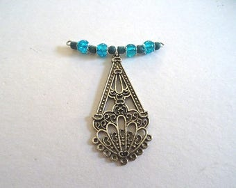 Pendant, bottom of necklace, Gypsy style