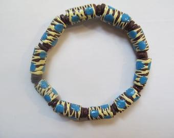 Brown & Blue Tribal Bracelet