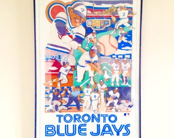 Vintage Rare Toronto Blue Jays Poster