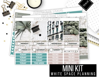 Simple Comforts - Mini Weekly Kit - White Space Planning - Planner Stickers - Photo Weekly kit - Lifestyle Blogger - 150+ Stickers