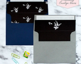 Printed Matching Envelope Liner | A2 Sized Liner | Star Wars Strong With You Card | Card for Groomsman | How To Ask Your Best Man Wedding