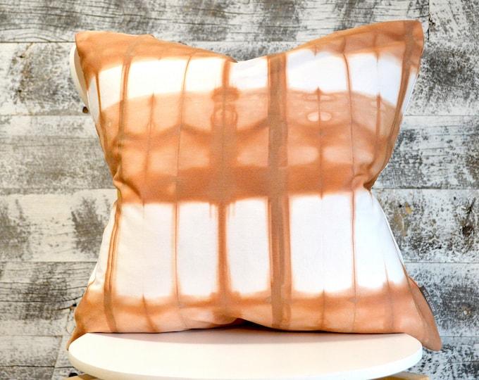Organic Cotton  Shibori Pillow Cover 20x20 inches - Cedar