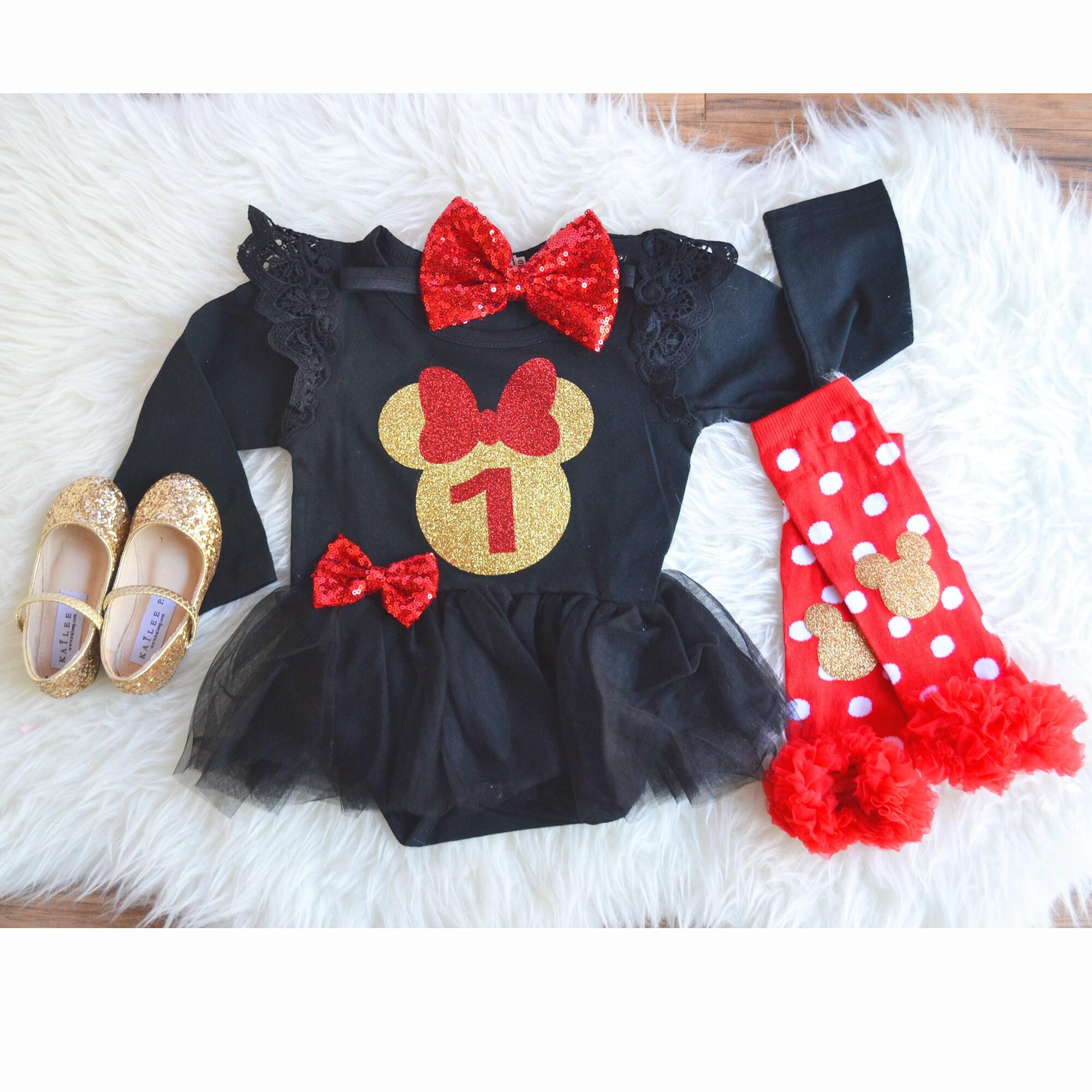 Minnie Maus ersten Geburtstag Outfit Minnie Mouse 1.