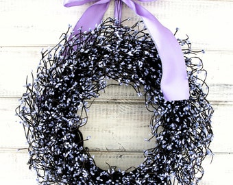 Mothers Day-Mothers Day Wreath-LAVENDER Door Wreath-Summer Wreath-Spring Home Decor-Wedding Wreath-Gift for Mom-Shabby Chic Wedding Decor