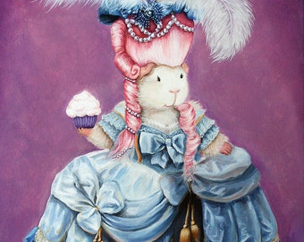 Guinea Pig Marie Antoinette - Fine Art Print of Original Painting