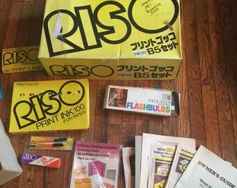 Vintage Riso Print Gocco B5 Set B-5 Printmaking