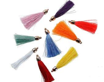 5 tassels fringes 55mm - multicolor SC79506 charms-