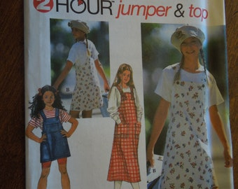 Simplicity 9534, sizes 12-14, childrens, pullover top, jumper, UNCUT sewing pattern