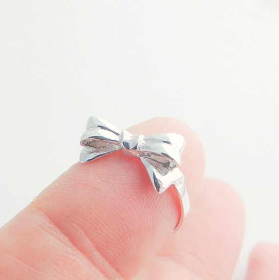 bow sterling silver rings ring