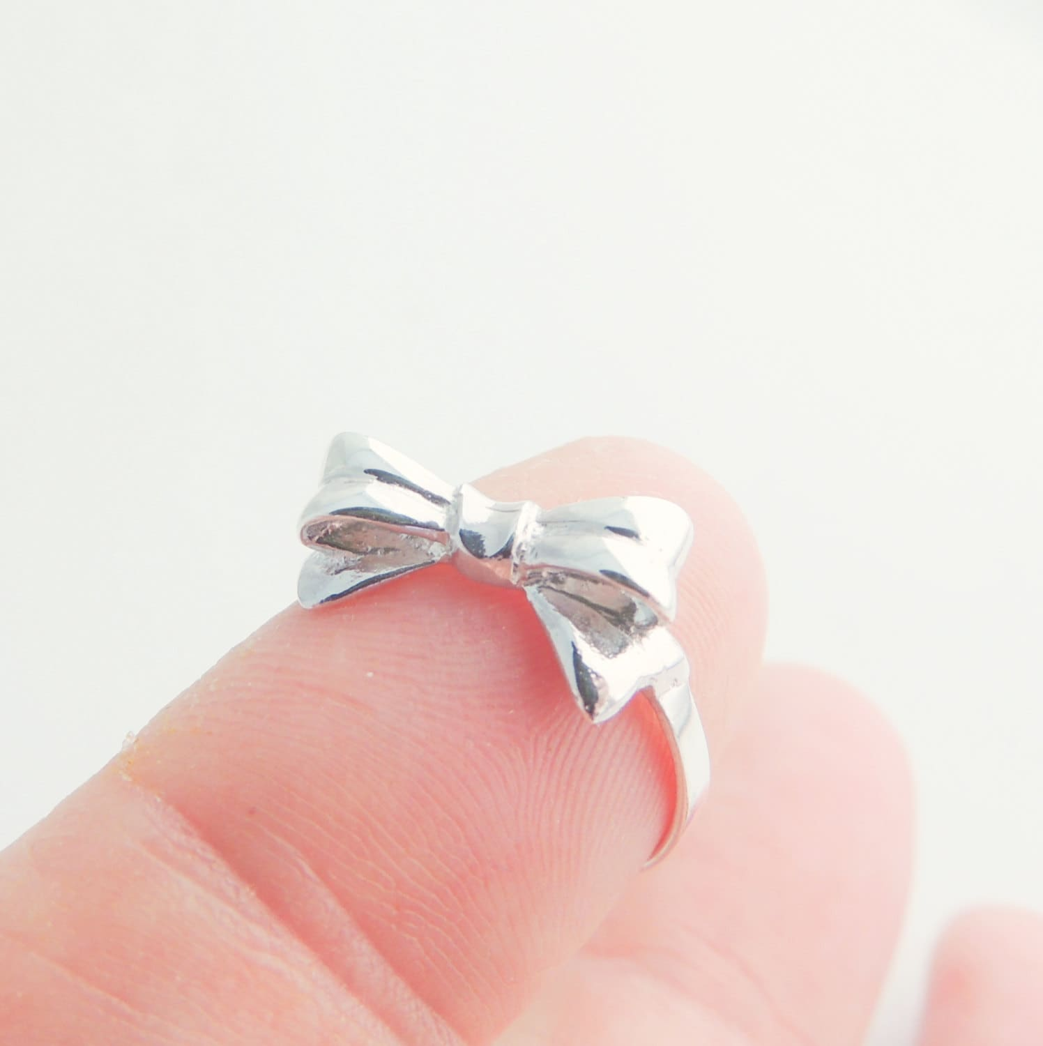 Tiny Bow Ring in Sterling Silver Bow Jewelry Ribbon Jewelry