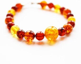 Handmade Baltic Amber bracelet, 11g