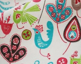 Baby Cotton Fabric Cloth -DIY Cloth Art Manual Cloth - Colorful Bird 43x19 Inches