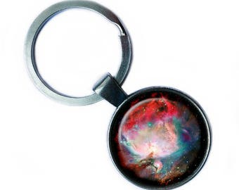 NASA Photograph Orion Nebula Keychain Keyring