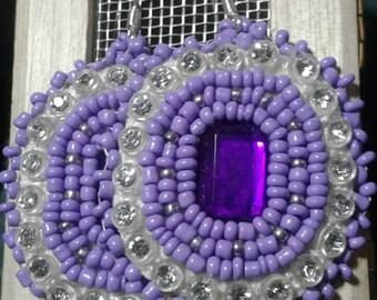 Purple Native American Earrings