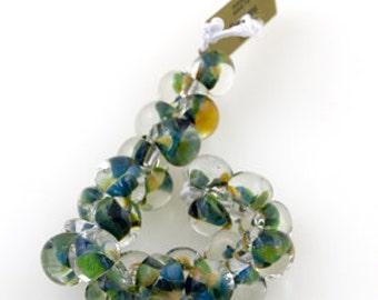 10 Teardrop Handmade Lampwork Beads - 13mm (22212) Lush Palm.