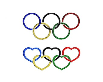 Olympic Rings Embroidery Designs. Olympic Games Patterns