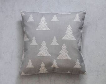 Christmas Pillow Cover, Grey Pine Tree Pillow Cover,  Pillow Covers, Throw Pillow, Christmas Throw Pillow, Decorative Pillow Cover