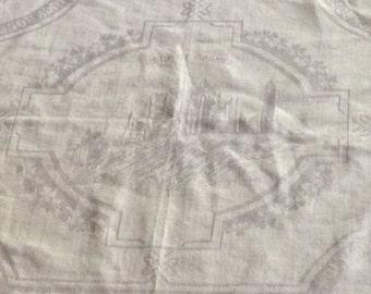 Irish Linen Damask Tablecloth