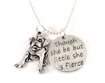 Bulldog necklace, charm necklace,pug necklace, dog jewelry, dog rescue,  fur baby necklace, Puppy, Bulldog, Pug,