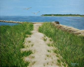 Path at New Silver Beach - Giclee on canvas