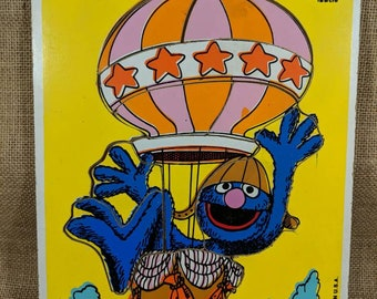 Groovy Grover! Vintage Playskool wood puzzle c. 1979