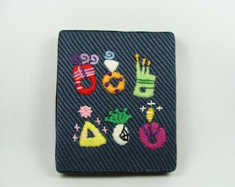 Hand Embroidered Engagement Rings - colorful decoration, engagement present, colorful home decor, hoop wall art, custom work available