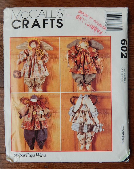 Country Angels Sewing Pattern Seasonal, Bunny, Sunflower, Scarecrow ...