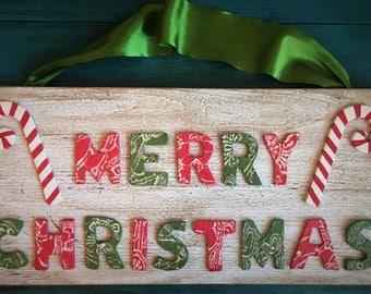 Ceramic Merry Christmas Sign
