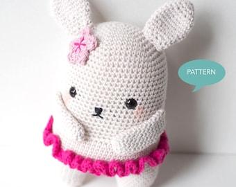 Crochet Bunny Pattern, Crochet Stuffed Animal Bunny,Amigurumi Pattern Bunny,Crochet tutorial Bunny Ballerina,Crochet Pattern Bunny Amigurumi