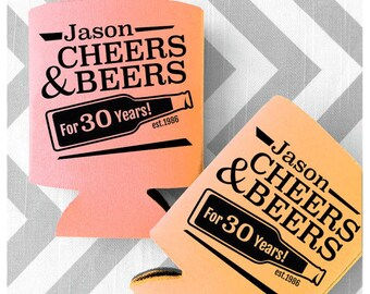 Cheers & Beers to 30 Years Birthday Can Coolers - Custom Printed Can Coolies - Free Shipping on all custom Can Coolers (28)