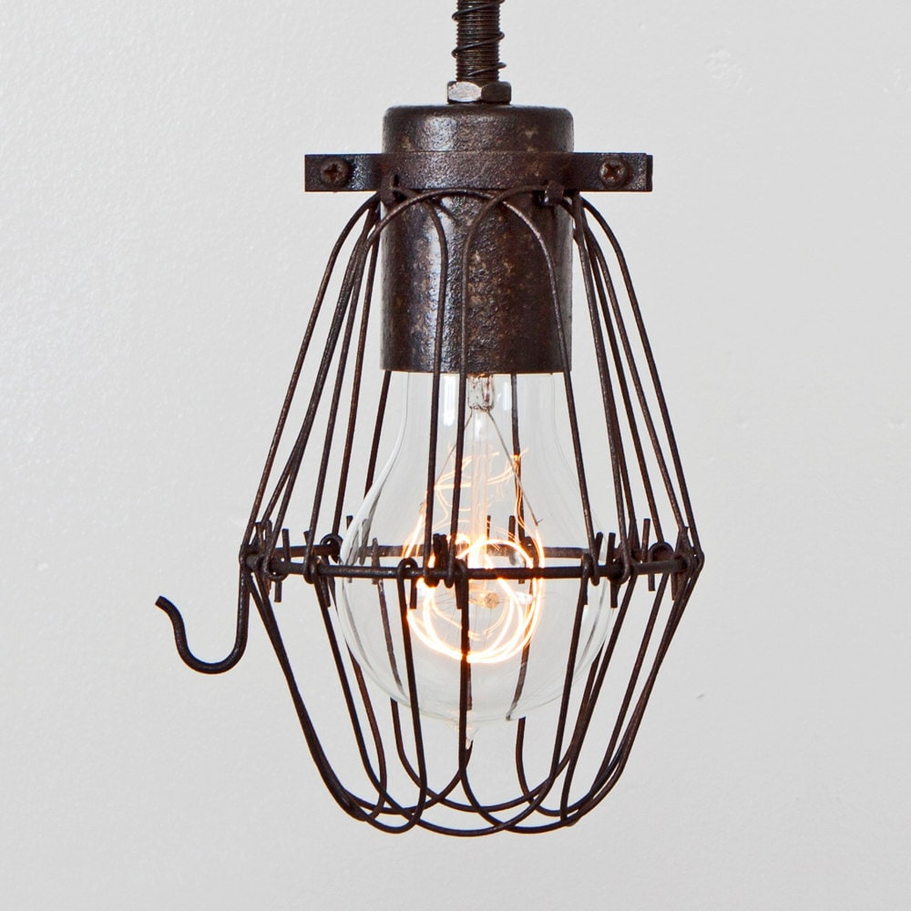 CAGE ONLY Basic Wire Bulb Cage Pendant Sold Separately //
