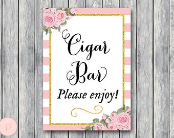 Cigar Bar Sign, Instant Download, Wedding Cigars Bar Sign, Wedding Sign, Engagement Party Cigar bar, Cigar Table Signs WD57 TH09