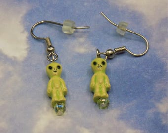 Alien, Bigfoot Sasquatch, Yeti Abominable Snowman, Woolly Mammoth and Dinosaur Earrings