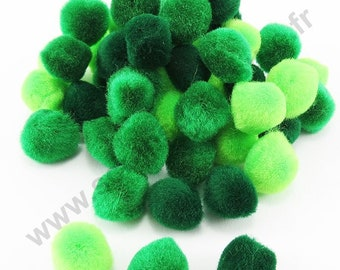 Tassels - Shades Green - 15mm - x 45pcs
