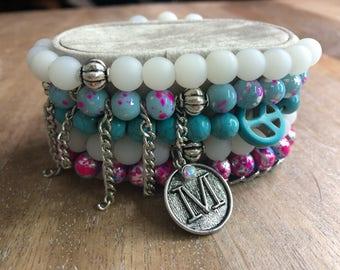 Cotton Candy - Beaded Bracelet Stack
