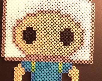 Adventure Time Finn Pop Funko Perler Bead Doll