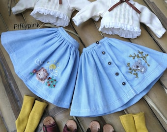 Hand embroidery : Blythe,pureneemo s,licca,jerryberry or similar size.