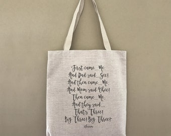 Custom Tote This Is Us Wee big Three Customizable Personalized Gift For Her Gift For Him Farmers Market Shopping Bag Bulk