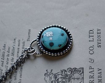 White Water Turquoise with Pyrite Necklace
