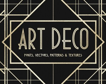 The Art Deco Collection - including Fonts, Vectors, Patterns, and Textures