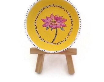 Hand Painted Trinket Dish, Painted Lotus Flower Jewelry Dish,  Painted Flower Trinket Dish, Lotus Flower Ring Dish - LOTUS BEAUTY