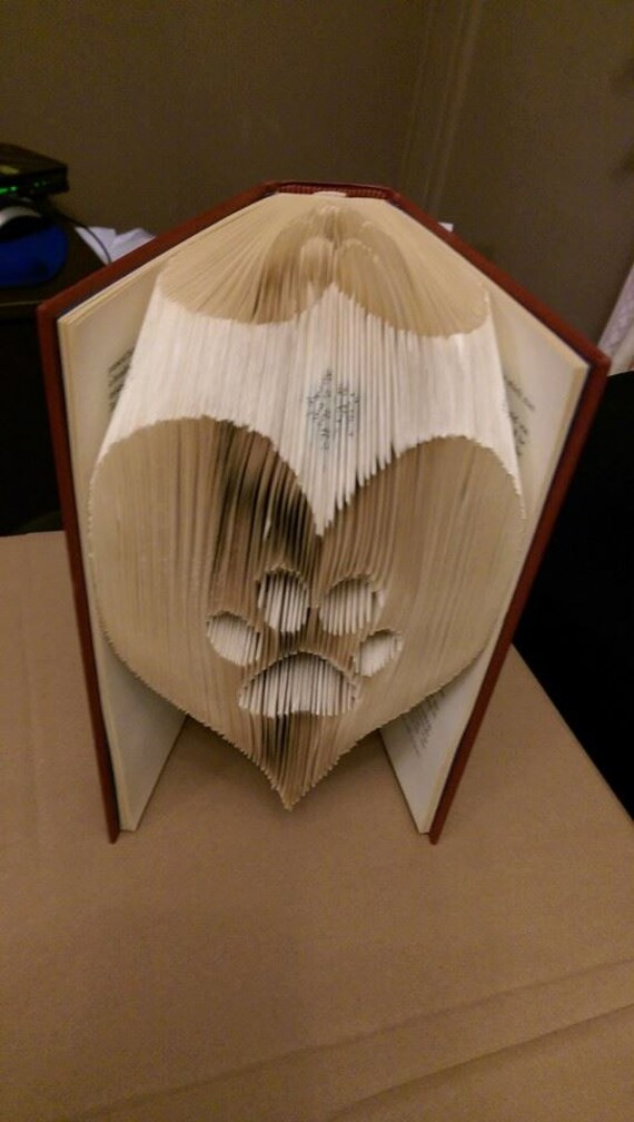Paw in a heart folded book art pattern pdf book folding paw in a heart folded book art pattern pdf book folding book origami dog cat vet free instructions tutorial thecheapjerseys Image collections