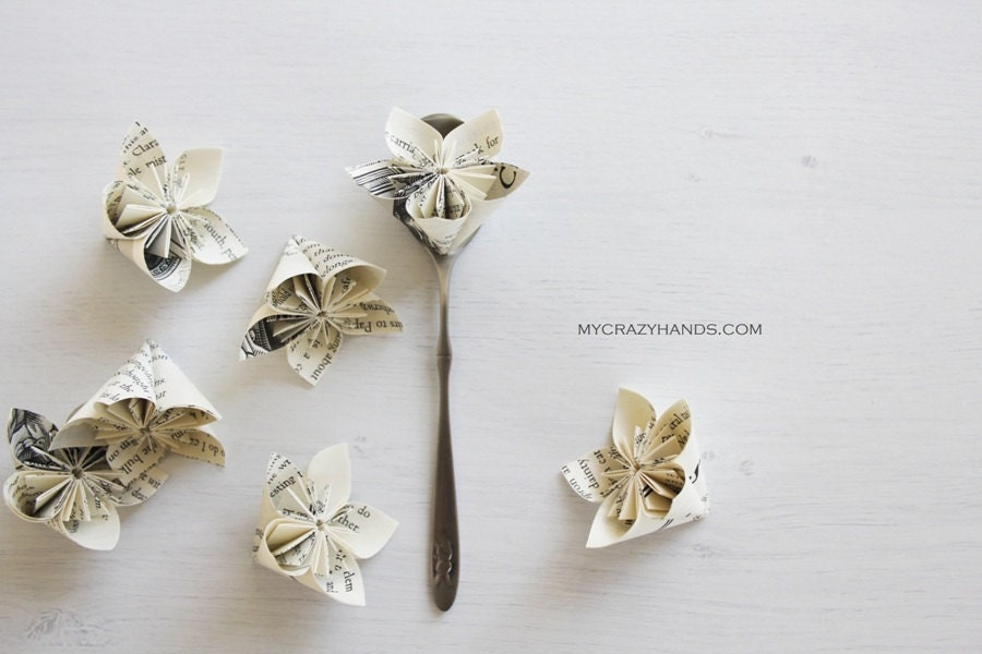 12 origami flowers wedding flower favors paper flower zoom mightylinksfo