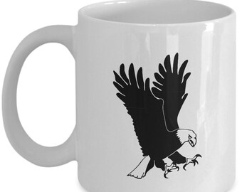 Flying Eagle Coffee Mug - Eagles - Novelty Gift Mug - 11 oz white coffee tea cup