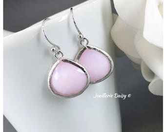 Bridesmaid Gift Pink Earrings Blush Wedding Mother of Groom Gift Mother of Bride Gift for Her Crystal Jewelry Wedding