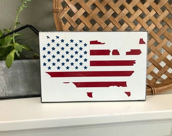 4th of July | America | 4th of July sign | American flag | Flag | red white and blue | independence day | Flag sign | America Sign