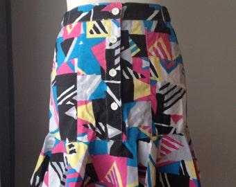Amazing 80s Geometric Skirt