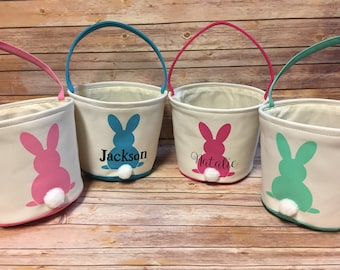 Bunny Butt Easter Baskets Personalized